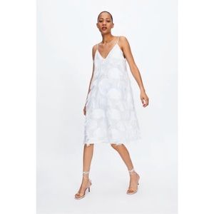 Zara White Fringed Dress